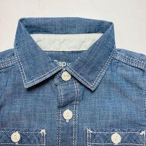 GAP Shirts & Tops - Baby Gap Chambray Button Down Shirt Sz 12-18months